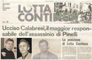 LUIGI CALABRESI, MARTIRE CRISTIANO ASSASSINATO 45 ANNI FA